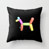 Dog Balloon Throw Pillow