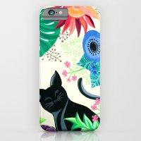 Natures Confetti Cat  iPhone 6 Slim Case
