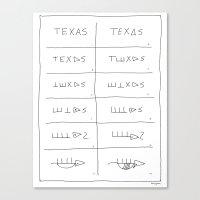 Texas Armadillo Canvas Print