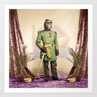 General Simian Of The Gl… Art Print