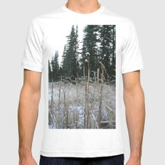 Falltime in Watervalley White SMALL Mens Fitted Tee