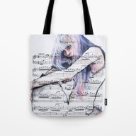 Waiting Place On Music S… Tote Bag