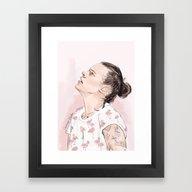 Harry Flamingo Framed Art Print