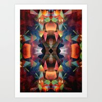 Colorful Vintage Mandala Art Print