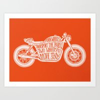 Four Wheels Transport Th… Art Print