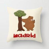 MADRID: Bear And Madrono… Throw Pillow