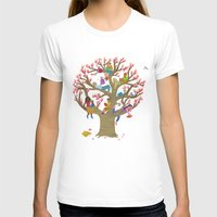 Tree Readers Womens Fitted Tee White SMALL