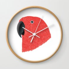Eclectus [Female] Parrot Wall Clock