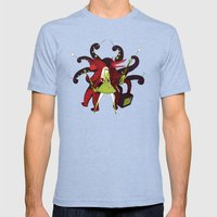 My savage band Mens Fitted Tee Tri-Blue SMALL