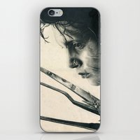 Edward Scissorhands ~ Johnny Depp Traditional Portrait Print iPhone & iPod Skin