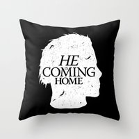 Halloween Is Coming Throw Pillow