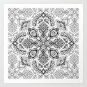 Pattern in Black & White Art Print