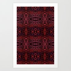 Electric Red Cubes  Art Print