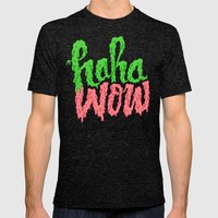 HAHA WOW Mens Fitted Tee Tri-Black SMALL