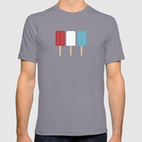 Americana Mens Fitted Tee Slate SMALL