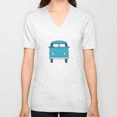 #53 Volkswagen Type 2 Splitscreen Bus Unisex V-Neck