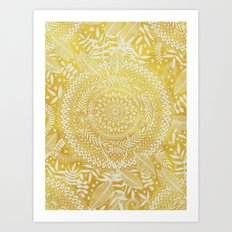 Medallion Pattern In Mus… Art Print