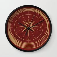 Go With Love Wall Clock