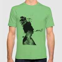 URBAN BLACK MAN Mens Fitted Tee Grass SMALL