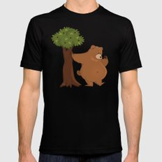 Bear and Madrono SMALL Black Mens Fitted Tee