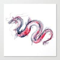 Koi Dragon Canvas Print