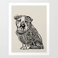 Polynesian English Bulld… Art Print