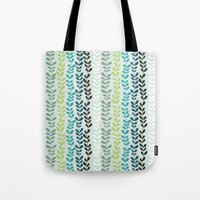 Blue and mint floral Tote Bag