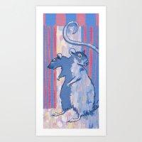 2-headed Rat Art Print