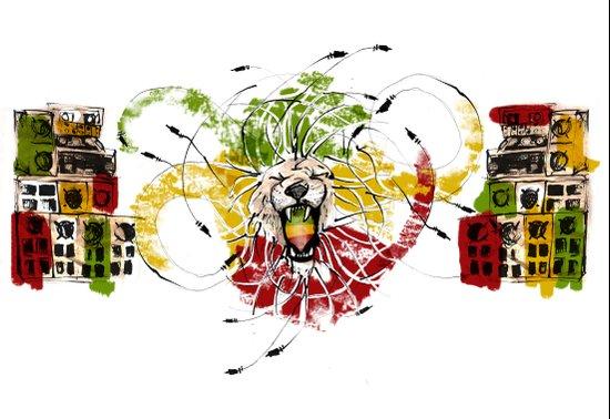 Reggae Lion Speakers Canvas Print