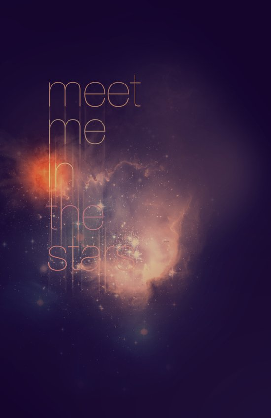 Meet Me in the Stars Art Print
