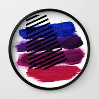 Magenta Broadcast Wall Clock