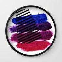 Magenta Broadcast Wall Clock