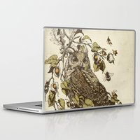 owl Laptop & iPad Skins featuring Great Horned Owl by Teagan White