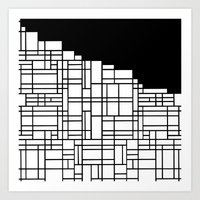 Map Black Boarder Art Print