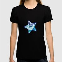 Stormy Sea Womens Fitted Tee Black SMALL