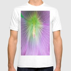 Center of Attention  SMALL White Mens Fitted Tee