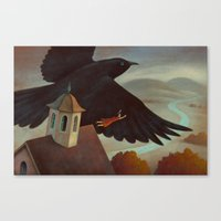 Flying Away Canvas Print