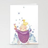 Baby bath Stationery Cards