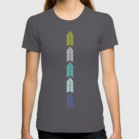 Arboretum | Leafy Greens Womens Fitted Tee Asphalt SMALL
