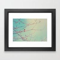 Bluebird Blue Framed Art Print