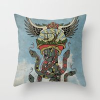In To The Blue Throw Pillow