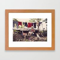 My Front Lawn Framed Art Print