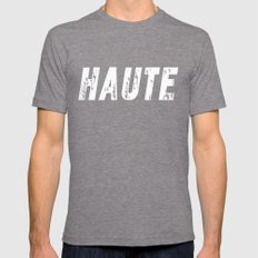 Haute (High) inverse Mens Fitted Tee Tri-Grey SMALL