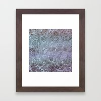Detailed square, grey'n wedgwood Framed Art Print