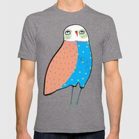 The Owl. Mens Fitted Tee Tri-Grey SMALL