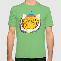 TIGER Mens Fitted Tee Grass SMALL
