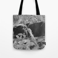 Black Plume Tote Bag