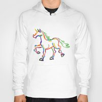 Colored Lines Unicorn Hoody