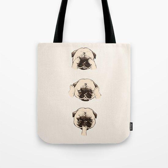 No Evil Pug  Tote Bag