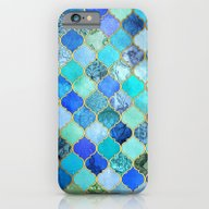 Cobalt Blue, Aqua & Gold… iPhone 6 Slim Case
